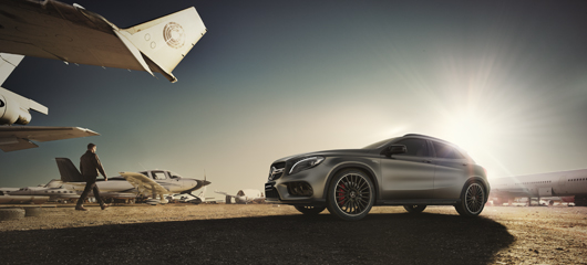 The Mercedes-AMG GLA 45 4MATIC.